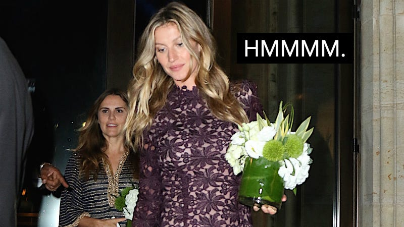 Illustration for article titled Weird Question, But Do You Think Gisele Bundchen Steals Centerpieces From Formal Dinners?