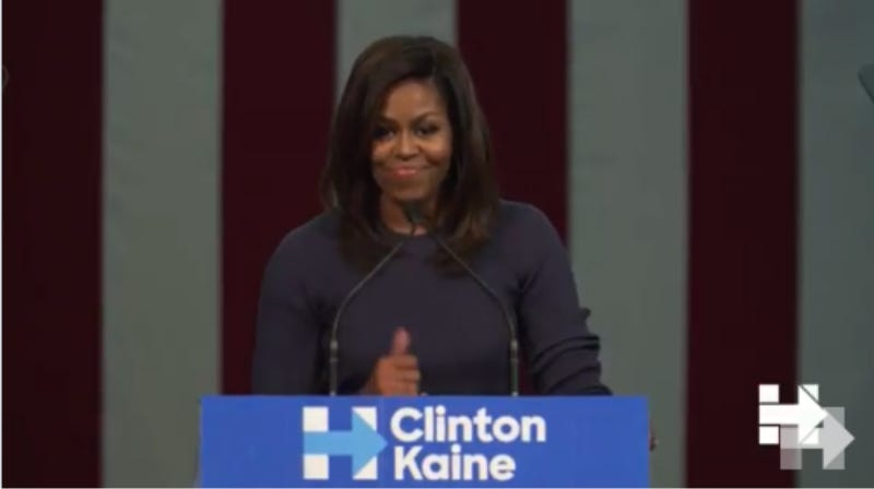 Image result for Michelle obama calls out trump's treatment of women