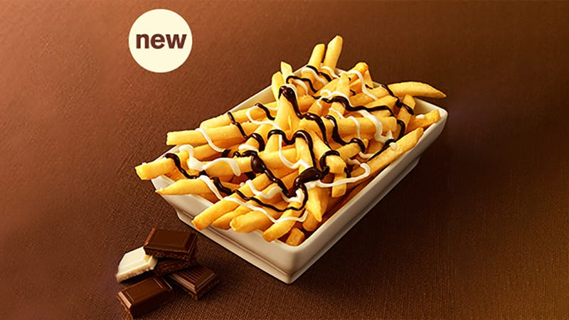 Illustration for article titled McDonald's Is Selling Chocolate-Covered French Fries in Japan