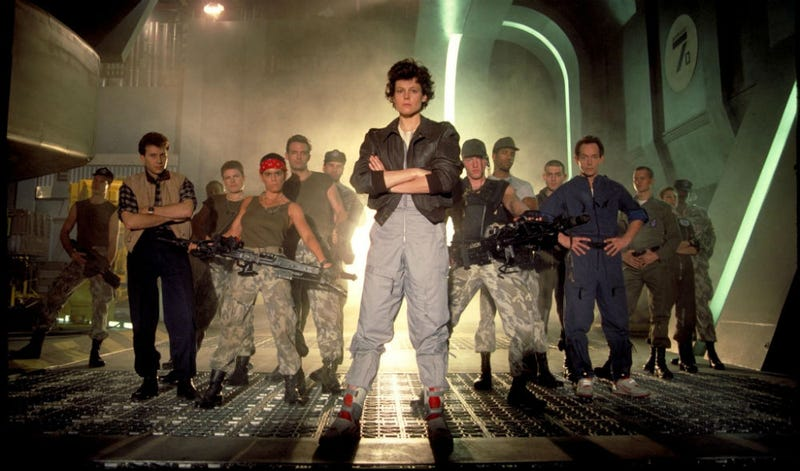 A promo shot from Aliens, which we wish was the only Alien sequel. All Images: 20th Century Fox