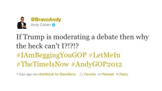 Illustration for article titled Andy Cohen Nominates Himself As Next Host Of The GOP Debates