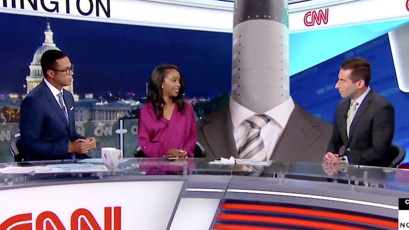 Illustration for article titled CNN Under Fire For Failing To Disclose Pro-Iran War Panelist Actually Raytheon DeepStrike Missile