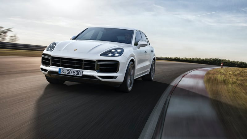 the 2019 porsche cayenne turbo is a ridiculous 550 hp ultra truck with active aero