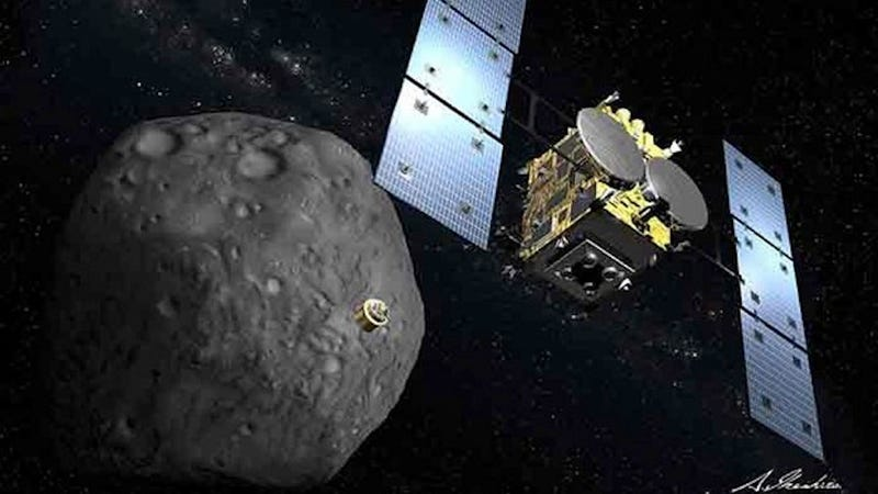 Illustration for article titled Japan Just Successfully Tested Its Asteroid-Shattering Space Cannon