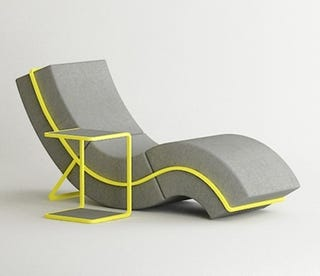 Illustration for article titled The Curves of This Sofa Can Be Used to Graph Out Our Lust For It
