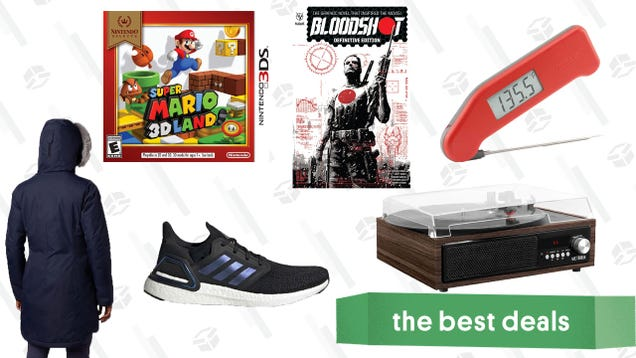 Saturday s Best Deals: Meat Themometers, Turntables, Super Mario 3D Land, Jackets, and More