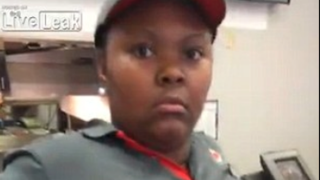 This Burger King worker was not happy when a customer requested a refund because she was dissatisfied with the quality of a milkshake. Live Leak Screenshot