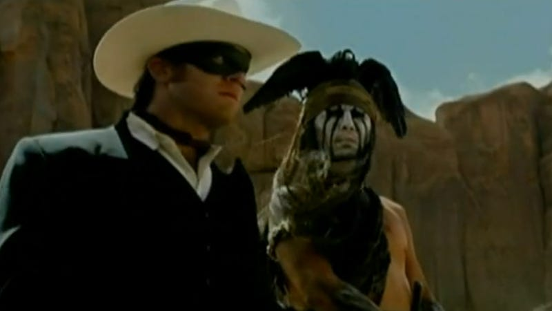 Illustration for article titled There Come a Time, Kemosabe, When Johnny Depp Speak Like 'Indian' in Lone Ranger Trailer
