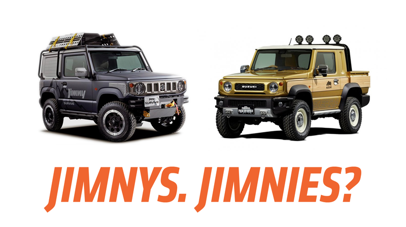 Illustration for article titled Suzuki Has Two Great Concept Jimnys to Show and One Is A Pickup