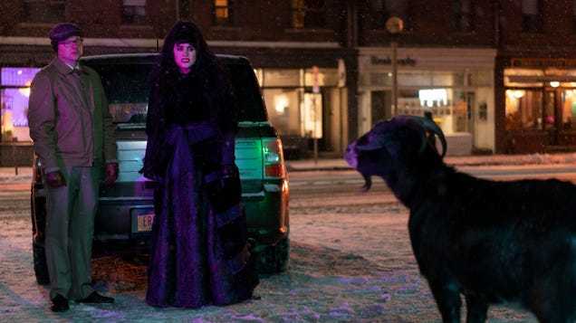 Nadja battles sperm-stealing witches on an engorged What We Do In The Shadows