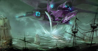 Illustration for article titled Spaceship Vs. Pirate Galleons, For The Ultimate Booty