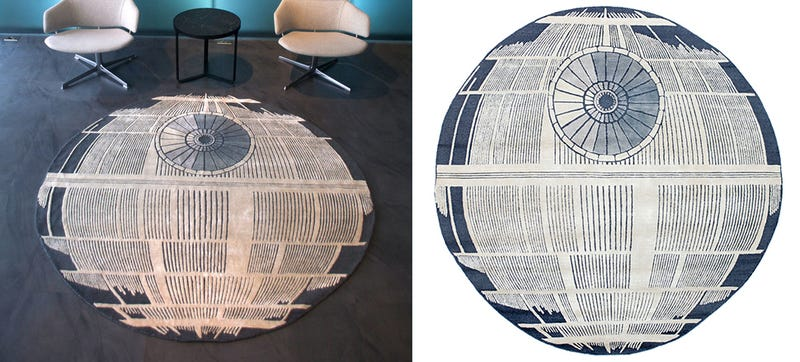 Illustration for article titled That's No Moon or Space Station, Just a Fantastic Death Star Rug