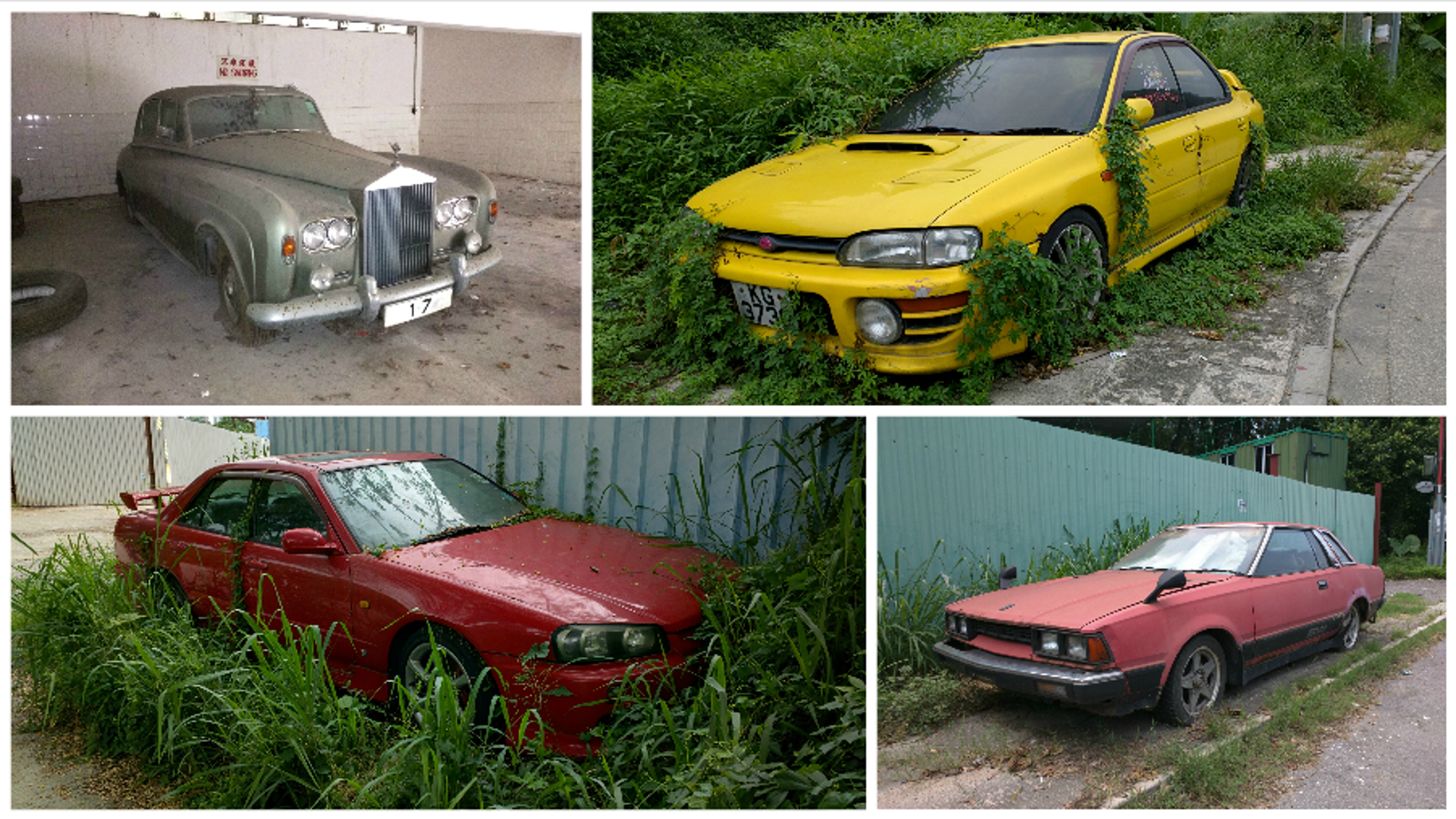 Look At All The Astonishing Rare Cars You Find Abandoned In Hong Kong