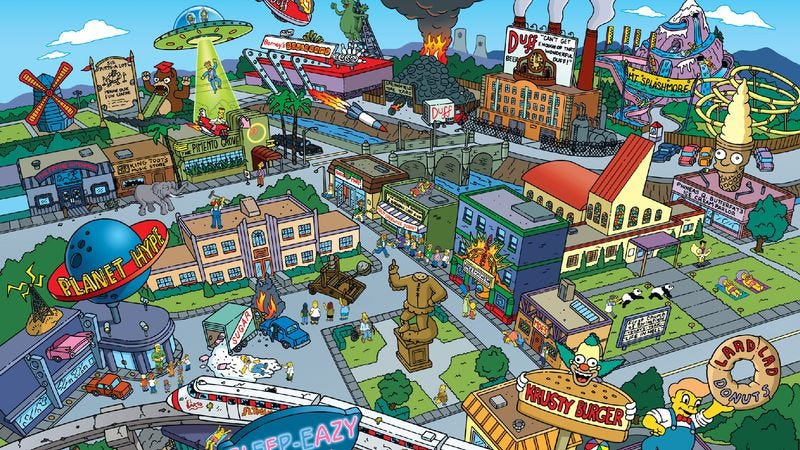 "Illustration for article titled ""The setting itself is a character"": 17 fictional TV towns with personality"
