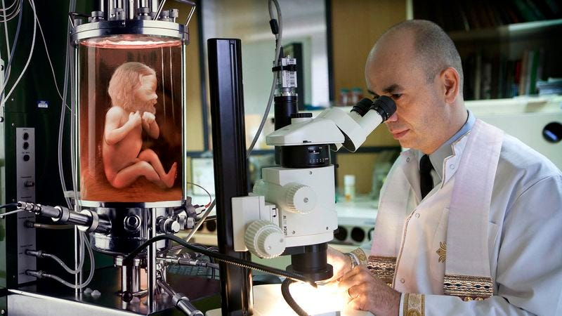 The Holy See's geneticists say they're pleased by how quickly the juvenile God clone created beings in His own image.