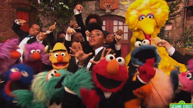 Illustration for article titled Janelle Monáe visits Sesame Street next week, but you can watch it right now