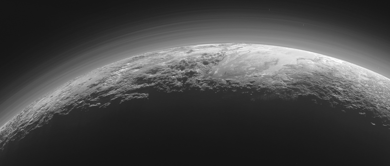Illustration for article titled Sunset on Pluto is Beyond Gorgeous in Latest Photos from New Horizons