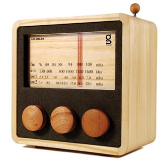 Illustration for article titled Magno Radio Gives Your Tunes Some Eco-Friendly Wood