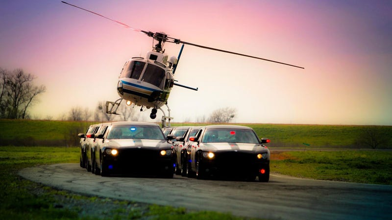 Illustration for article titled The CHP Has A Precision Driving Team? With A Chopper?