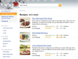 Bing adds impressive advanced recipe search results microsofts search engine bing ever at the ready to distinguish itself from other popular search engines has added a feature rich recipe search tool that forumfinder Gallery