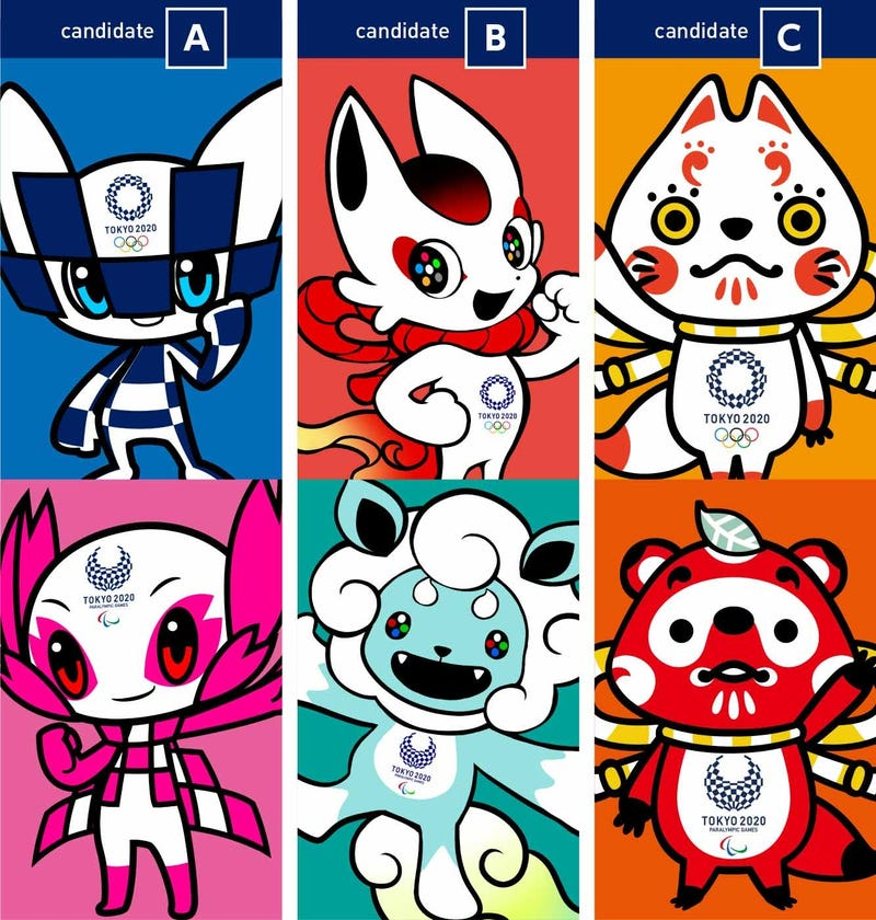 Tokyo Unveils Three Shortlisted Mascot Designs for 2020 Olympic and Paralympic Games