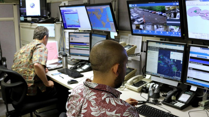 Hawaii Emergency Management officials in a December 1st, 2017 file photo. Photo: AP