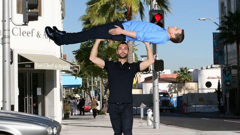A man carrying Matt Damon around Hollywood.