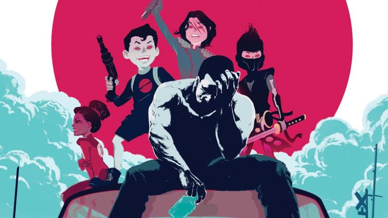 Illustration for article titled Bloodshot: Reborn #5 embraces the surreal to explore a killer's mind
