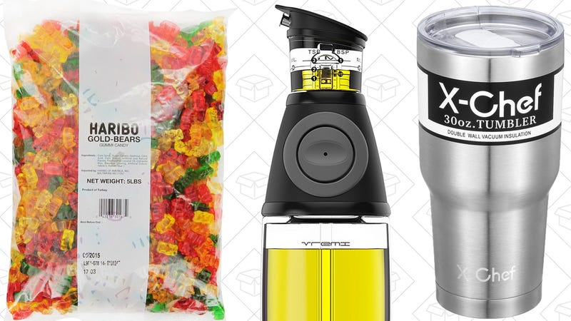 Illustration for article titled Today's Best Deals: Gummi Bears, Olive Oil, APC Surge Protector, and More