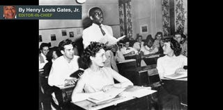 An integrated classroom in Washington, D.C., 1954 (Getty Images)