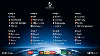 Illustration for article titled Here's The Champions League Group Stage Draw