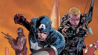 Illustration for article titled Captain America and Hawkeye assemble! An exclusive cover art preview of January's issue of Secret Avengers