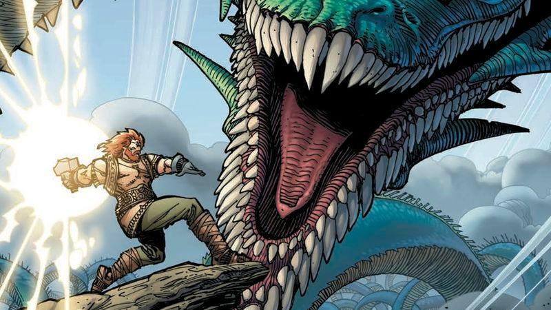 Illustration for article titled Walter Simonson returns to Norse mythology with the stunning Ragnarök #1