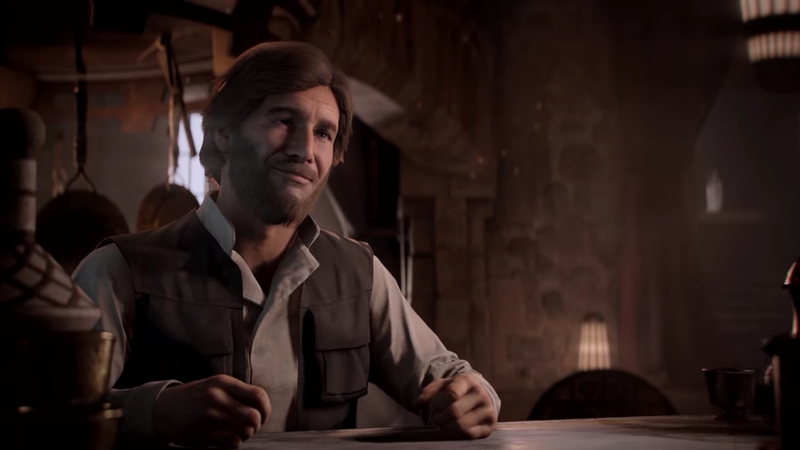 This is from the story campaign because EA's blog about the Han Solo season doesn't have a picture of Han Solo