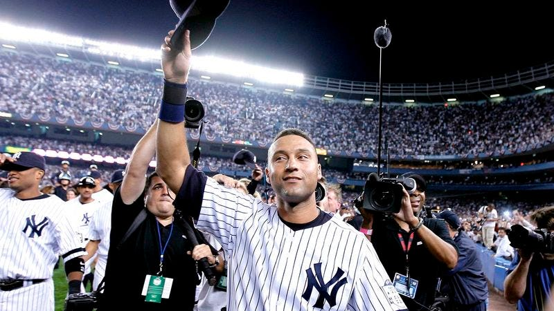 Illustration for article titled Yankees Honor Derek Jeter, Retire His Number, Forcibly Remove Him From Stadium