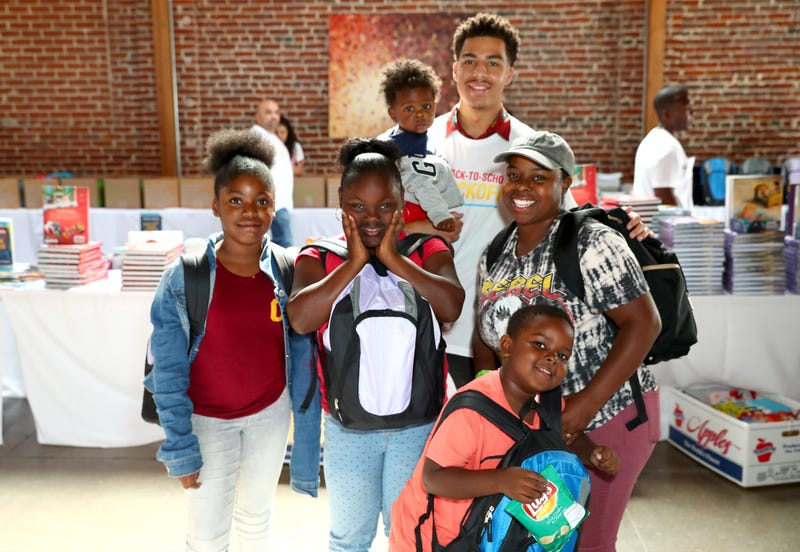 Actor Marcus Scribner joined Frito-Lay Variety Packs and Feed the Children in Los Angeles, Aug. 7, 2019.