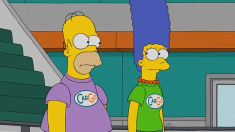 The Simpsons has had it with those TV-recapping clowns