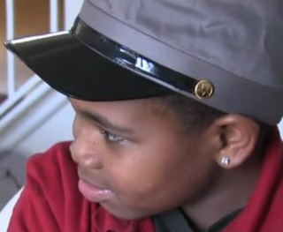 Natasha Lea's 9-year-old son, Jordan, wearing the confederate hat he got from schoolscreenshot via WGHP