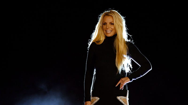 Britney Spears at the announcement of her Las Vegas show residency.