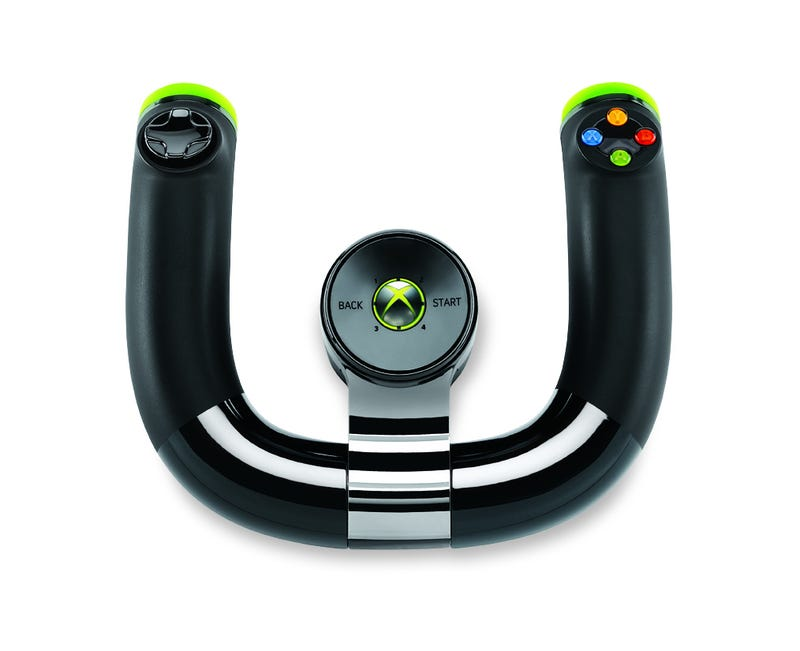 Illustration for article titled Microsoft's New Official 360 Steering Wheel Cuts the Cord [Update]