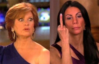 """Illustration for article titled Caroline Manzo Testifies That Danielle Staub """"Claimed To Be Hiding In A Tree"""""""