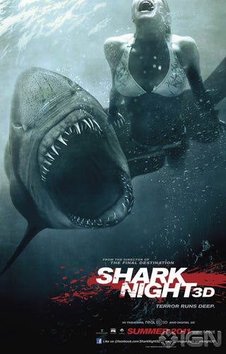 Illustration for article titled Shark Night 3D Poster