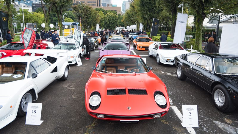 Japan S Lamborghini Day Is Delightfully Colorful