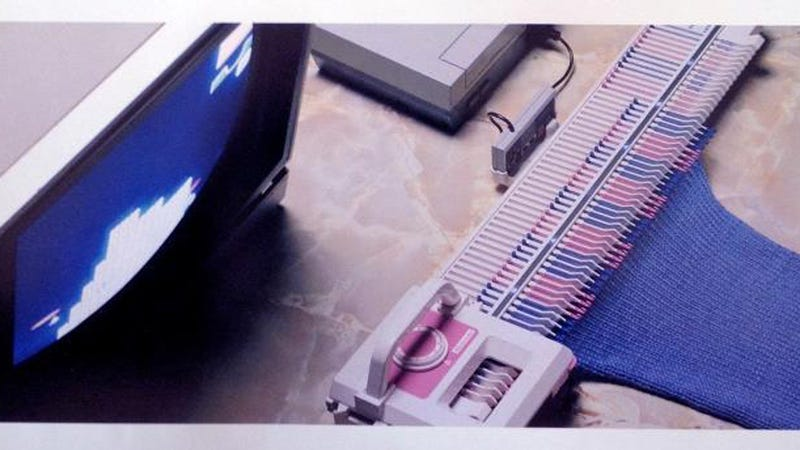 Illustration for article titled This Long-Lost Nintendo Knitting Machine Would Have Let You Make Sweaters With Your NES
