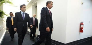 House Majority Leader Eric Cantor and Speaker of the House John Boehner (Alex Wong/Getty Images News)