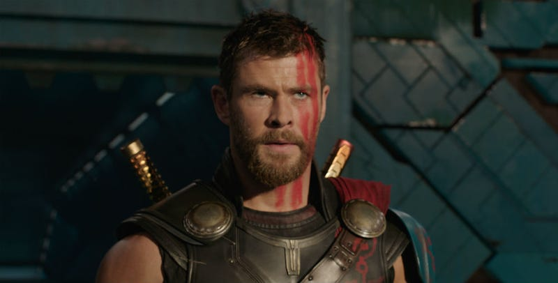 Thor (Chris Hemsworth) on the set of Thor: Ragnarok. Image: Disney