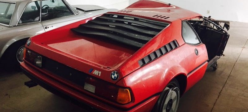 somebody bought this totally wrecked 1980 bmw m1 maybe for 125 000