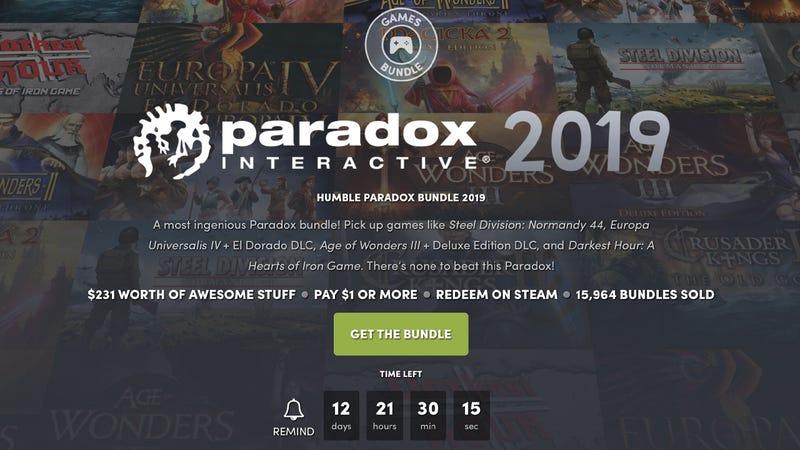Paradox Interactive Humble Bundle