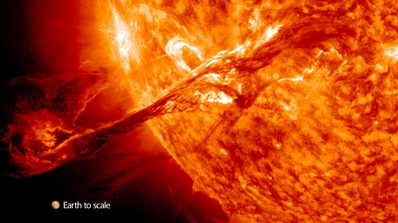 Illustration for article titled This Is the Most Astonishing Solar Eruption I've Ever Seen
