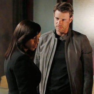 Kerry Washington as Olivia Pope and Scott Foley as Jake Ballard in Scandal    ABC